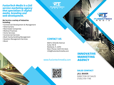 Marketing Material for Fusion Tech Media