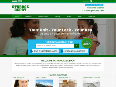 Storage Depot Custom Website Visit Site
