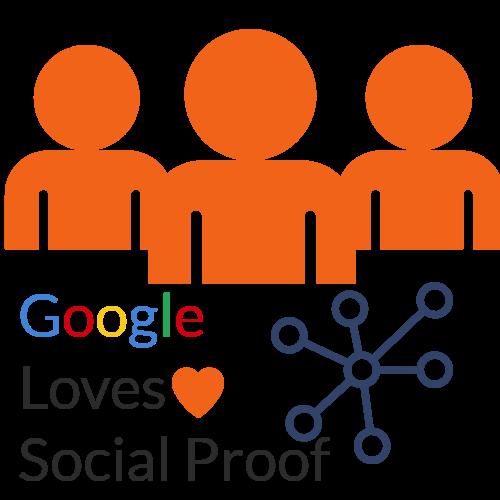 Google. Social proof